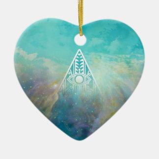 Nebulosa impresionante de Orión del triángulo de Adorno De Cerámica En Forma De Corazón