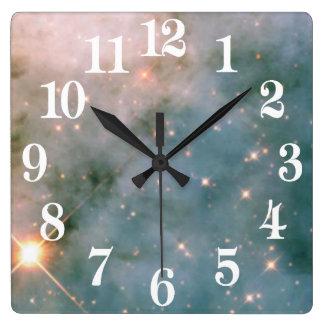 Nebulosa luminosa de Carina Reloj Cuadrado
