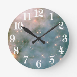 Nebulosa luminosa de Carina Reloj Redondo Mediano