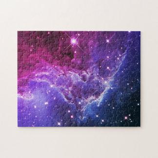 Nebulosa púrpura de la cabeza del mono de Ombre Puzzle