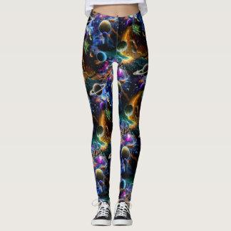 Nebulosa y planetas galácticos leggings