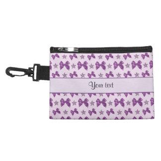 Neceser Con Gancho Lazos de satén púrpuras hermosos