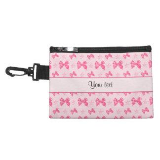 Neceser Con Gancho Lazos de satén rosados hermosos