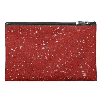 Neceser De Viaje Estrellas del purpurina - rojo de plata