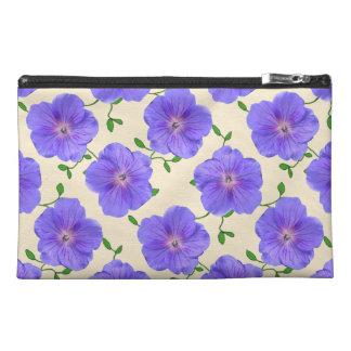 Neceser De Viaje Flor azul botánica del geranio