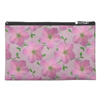 Neceser De Viaje Flor rosada botánica del geranio en cualquier