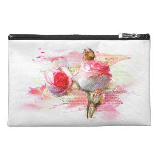 Neceser De Viaje Pink colored roses, Watercolor, splash