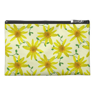 Neceser De Viaje Wildflower amarillo botánico de la árnica en