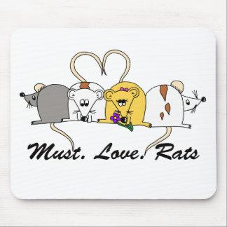 Necesidad. Amor. Ratas Mousemat Alfombrilla De Ratón