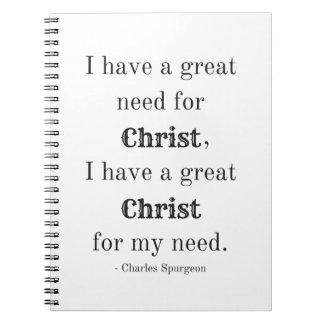 Necesidad del cuaderno espiral de Cristo