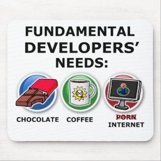 Necesidades fundamentales del desarrollador alfombrilla de ratón