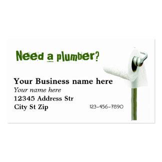 ¿Necesite a un fontanero? Tarjetas de visita