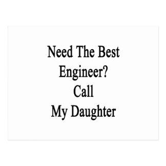 Necesite la mejor llamada del ingeniero mi hija postal