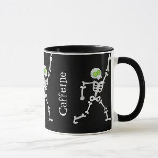 Necesite más taza de café esquelética del baile