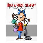 ¿Necesite un limpiador de la casa? Aviador de Flyer A Todo Color