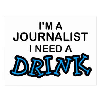 Necesite una bebida - periodista postal