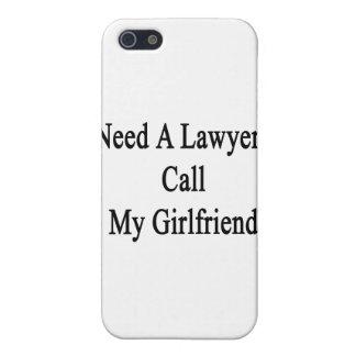 Necesite una llamada del abogado mi novia iPhone 5 protectores