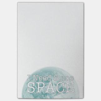 Necesito algunas notas de post-it del espacio