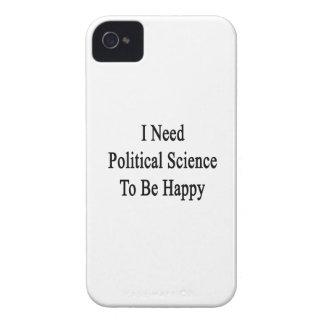 Necesito ciencia política ser feliz iPhone 4 cárcasa