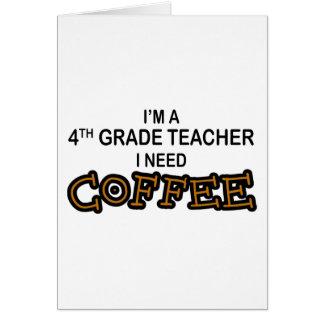 Necesito el café - 4to grado tarjeta