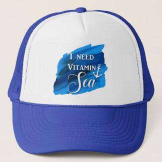 Necesito el gorra azul lindo del ancla de la playa
