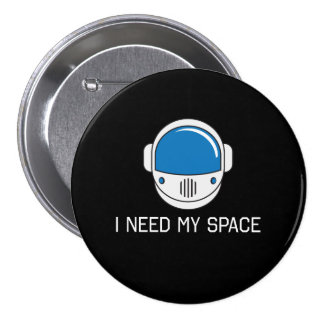 Necesito mi espacio chapa redonda 7 cm