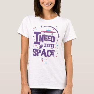 Necesito mi espacio - tipografía camiseta