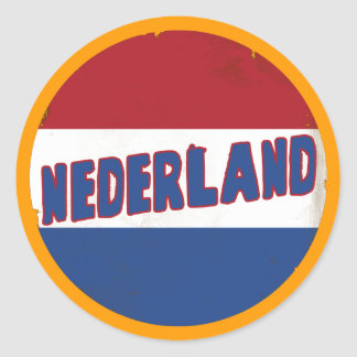 Nederland Pegatina Redonda