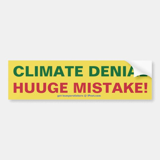 Negación del clima - ERROR de HUUGE Pegatina Para Coche