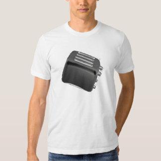 Negativa negra y blanca de la tostadora retra - camiseta
