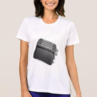 Negativa negra y blanca de la tostadora retra - camisetas
