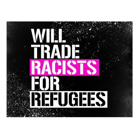 Negociará a los racistas para los refugiados - - postal