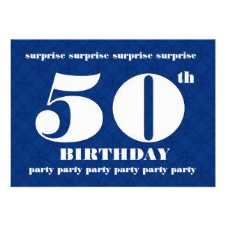 NEGOCIE la 50.a fiesta de cumpleaños de la Anuncio Personalizado
