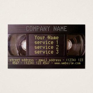 Negocio audio/video retro de la tarjeta de visita