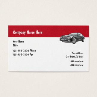 Negocio automotriz del servicio de lujo del coche tarjeta de negocios