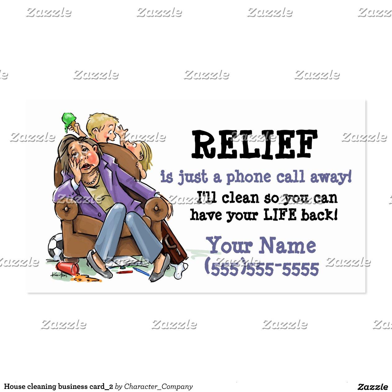 Negocio card 2 de la limpieza de la casa tarjetas de - Limpieza de la casa ...