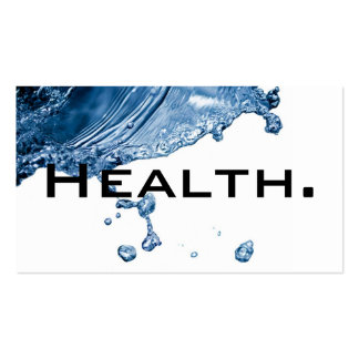 Negocio Card-H2O No 2 del profesional de salud Tarjetas De Visita