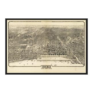 Negocio central Section (1916) de Chicago, Impresión En Lienzo