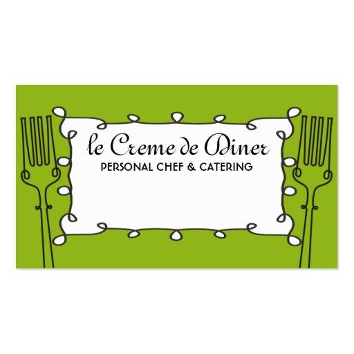 negocio de abastecimiento decorativo del cocinero tarjetas de negocios