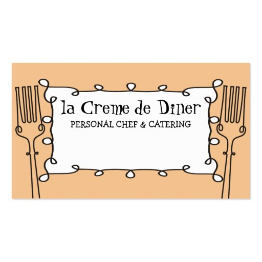 negocio de abastecimiento decorativo del cocinero tarjeta personal