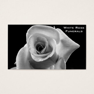 Negocio de funerales del diseño del rosa blanco tarjeta de negocios