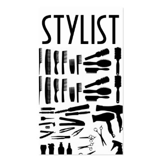 Negocio de la belleza de la peluquería de tarjetas de visita