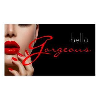 Negocio de la belleza del salón de la cosmetología plantillas de tarjeta de negocio