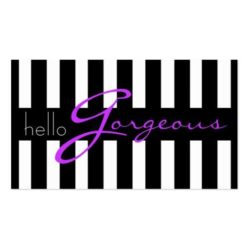 Negocio de la belleza del salón de la cosmetología tarjeta de visita