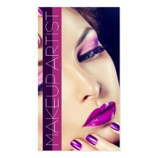 Negocio de la belleza del salón de la cosmetología tarjeta personal