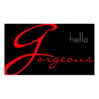 Negocio de la belleza del salón de la cosmetología tarjeta de negocio