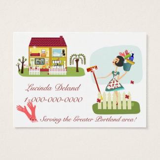 Negocio de la economía doméstica tarjeta de visita