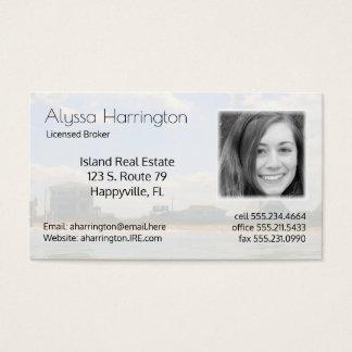 Negocio de la foto del agente inmobiliario de las tarjeta de negocios