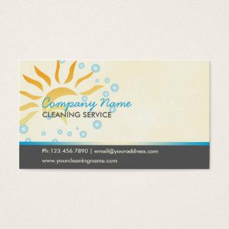 negocio de la limpieza de la casa tarjeta de visita