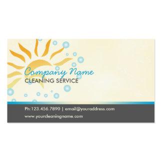 negocio de la limpieza de la casa tarjetas personales